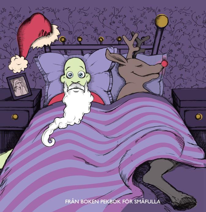 Alkohol - blev det en lagom vit jul? (Bild från boken Pekbok för småfulla)